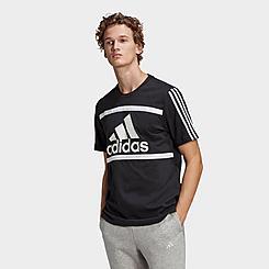 Men's adidas Essentials Logo Colorblock T-Shirt