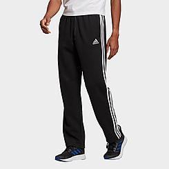Men's adidas 3-Stripes Essentials Open Hem Fleece Pants