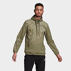 Men's adidas Essentials Giant Logo Windbreaker Jacket