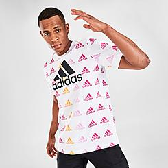Men's adidas Brand Love Allover Print T-Shirt