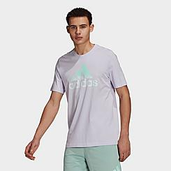 Men's adidas Essentials Tie-Dye Logo Inspirational T-Shirt