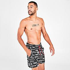 Men's adidas Originals Sticker Reverse Swim Shorts