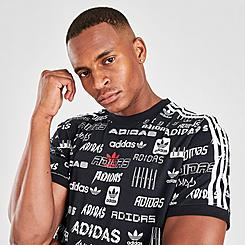 Men's adidas Originals Stick Allover Print T-Shirt