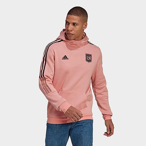 Adidas Team Adidas Men's Lafc Travel Hoodie In Pink