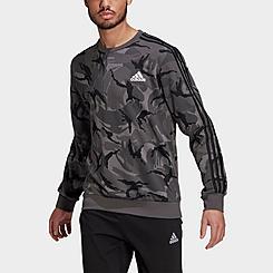 Men's adidas Essentials Camouflage Crewneck Sweatshirt