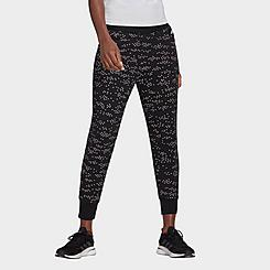 Women's adidas Sportswear Winners Allover Print Jogger Pants