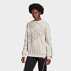 Women's adidas Essentials Giant Logo Crewneck Sweatshirt