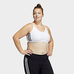Women's adidas All Me 3-Stripes Light Support Sports Bra (Plus Size)