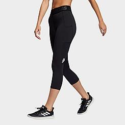 Women's adidas Techfit Cropped 3 Bar Training Tights