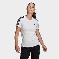 Women's adidas Essentials Slim 3-Stripes T-Shirt