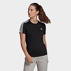 Women's adidas Essentials Slim 3-Stripes T-Shirt