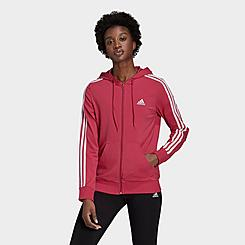 Women's adidas Essentials 3-Stripes Full-Zip Hoodie