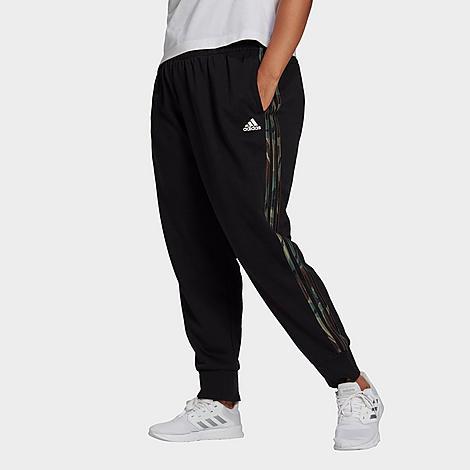 Adidas Originals Pants ADIDAS WOMEN'S ESSENTIALS CAMOUFLAGE 3-STRIPES JOGGER PANTS (PLUS SIZE)