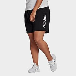 Women's adidas Essentials Slim Logo Shorts (Plus Size)
