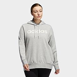 Women's adidas Essentials Linear Fleece Hoodie (Plus Size)