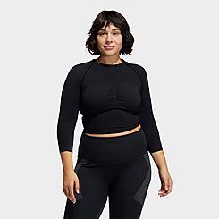 Women's adidas Training Formotion Cropped Long-Sleeve Training Shirt (Plus Size)