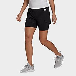 Women's adidas Primeblue Designed 2 Move 2-In-1 Sport Shorts