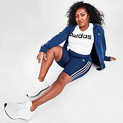Women's adidas Designed 2 Move High-Rise Sport Short Training Tights (Plus Size)