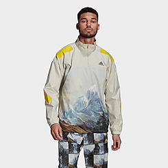 Men's adidas Sportswear Mountain Graphic Half-Zip Sweatshirt