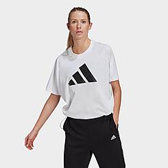 Women's adidas Sportswear Adjustable Hem Badge Of Sport T-Shirt