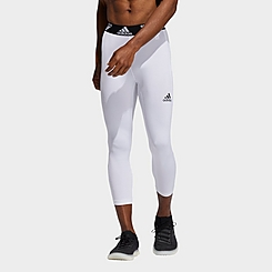 Men's adidas Techfit Three-Quarter 3-Stripes Tights