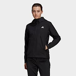 Women's adidas Basic 3-Stripes RAIN.RDY Wind Jacket (Plus Size)