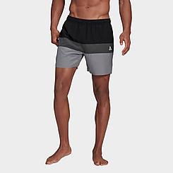 Men's adidas Colorblock Short Length Swim Shorts