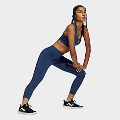 Women's adidas Believe This 2.0 Lace Panel Cropped Training Tights
