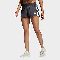 Women's adidas Pacer 3 Stripes Woven Training Shorts