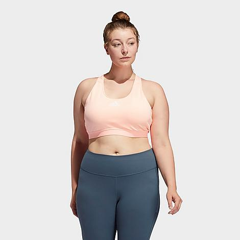 Adidas Originals ADIDAS WOMEN'S DON'T REST ALPHASKIN PADDED MEDIUM-IMPACT SPORTS BRA (PLUS SIZE)