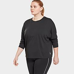 Women's Reebok Workout Ready Supremium Long-Sleeve T-Shirt (Plus Size)