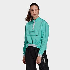 Women's adidas Terrex Hike Half-Zip Fleece Top
