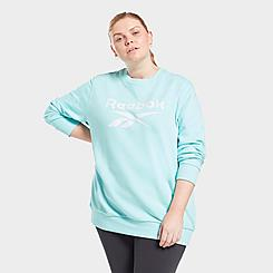 Women's Reebok Identity Logo French Terry Crewneck Sweatshirt (Plus Size)