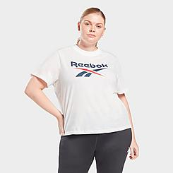 Women's Reebok Identity Cropped T-Shirt (Plus Size)