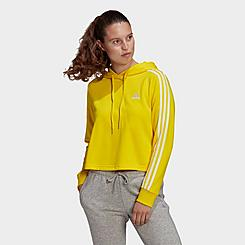 Women's adidas Essentials Crop Logo Hoodie