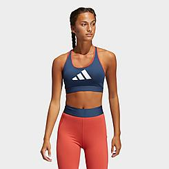 Women's adidas Don't Rest 3-Stripes Medium-Support Sports Bra