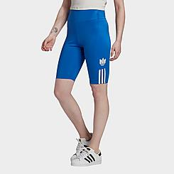 Women's adidas Originals Adicolor 3D Trefoil Logo Bike Shorts