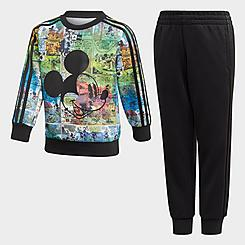 Kids' adidas Disney Mickey Mouse Sweatshirt and Jogger Pants Set
