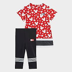 Girls' Infant and Toddler adidas Disney Minnie Mouse Dress and Leggings Summer Set