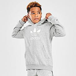 Kids' adidas Originals Multicolored 3-Stripes Pullover Hoodie