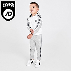 Boys' Infant and Toddler adidas 3-Stripes Hoodie and Jogger Pants Set