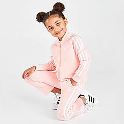 Girls' Toddler and Little Kids' adidas Originals 3-Stripes Track Jacket and Pants Set