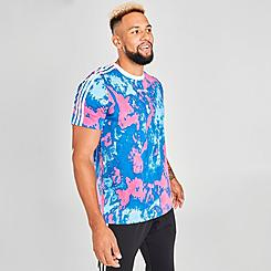 Men's adidas Originals Tie-Dye Print 3-Stripes T-Shirt