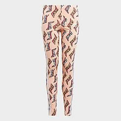Girls' adidas Originals Animal-Infill Allover Print Leggings