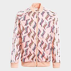 Girls' adidas Originals Animal-Infill Allover Print SST Track Jacket