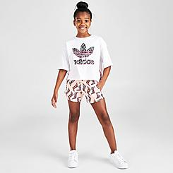 Girls' adidas Originals AOP Animal-Infill Flash Shorts