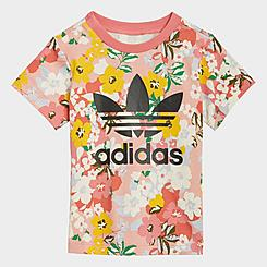 Girls' Infant and Toddler adidas Originals HER Studio London Floral T-Shirt