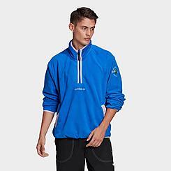 Men's adidas Originals Adventure Polar Fleece Half-Zip Sweatshirt