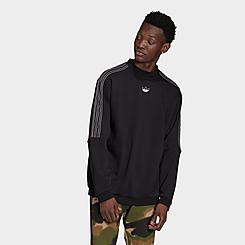 Men's adidas Originals SPRT Outline 3-Stripes Crewneck Sweatshirt