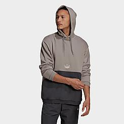 Men's adidas Originals SPRT Archive Mixed Material Hoodie